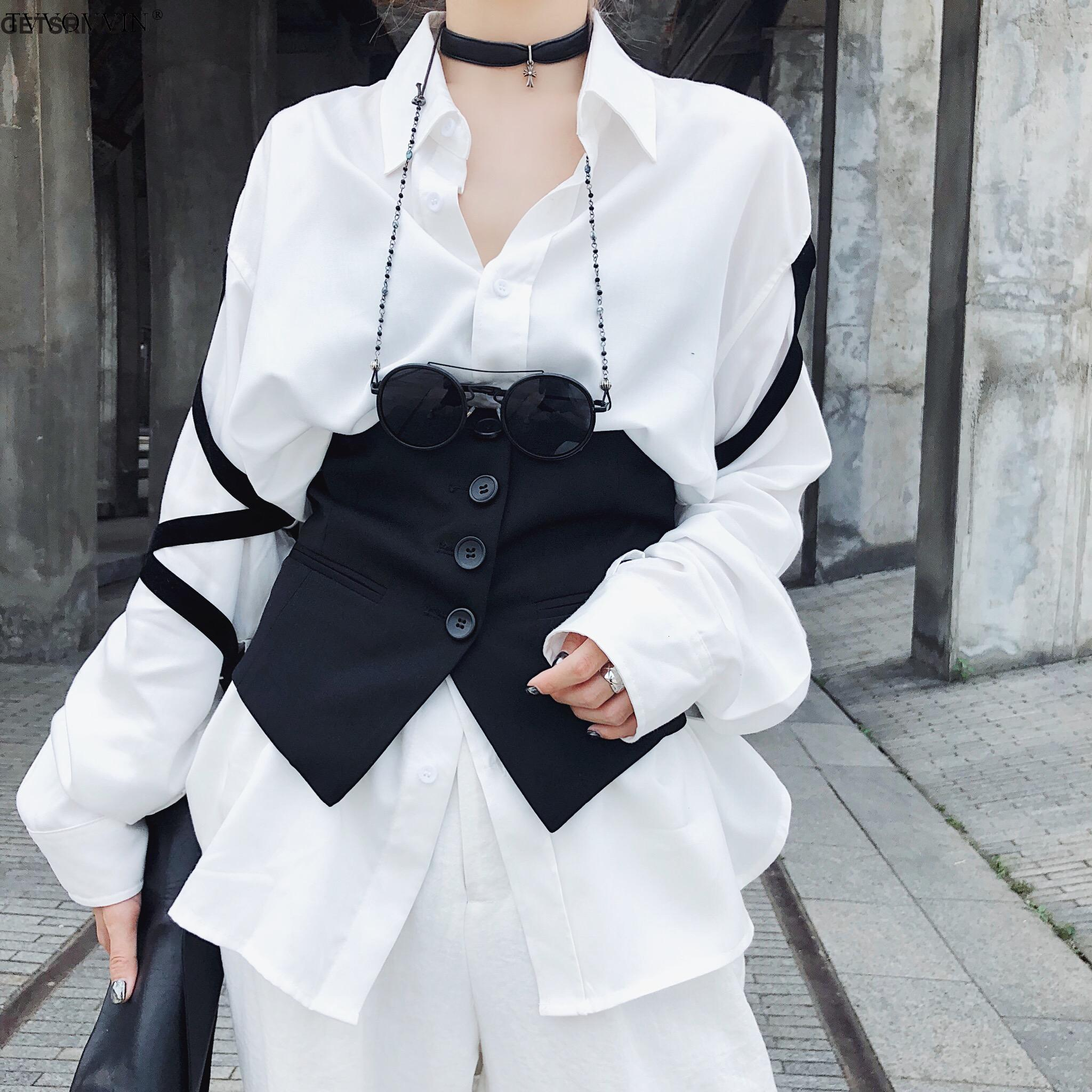 Woman Girdle Black Wild Burr Corset Belt Asymmetry Fashion Vintage Cotton Corset Belts 2019 Casual Sexy Girdle Woman E956
