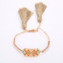 Браслет rttooas с подвесками геометрической формы Женский плетеный