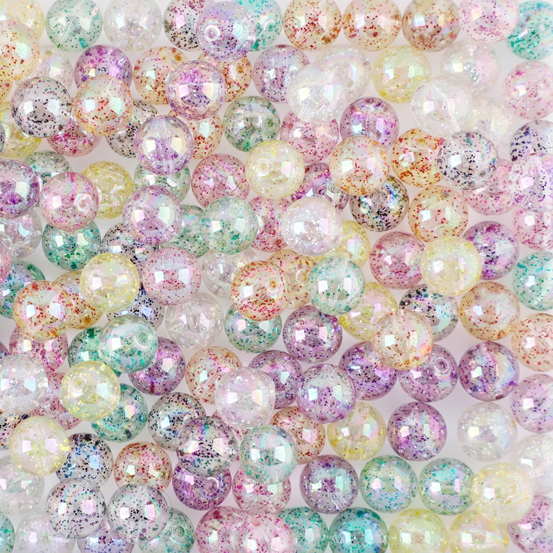 Acrylic Beads Wholesale 20pcs 15mm Sequins Baby Teether Transparent DIY Accessories Pacifier Chain PVC Free Baby Gift Let' Make