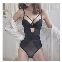 Marca francesa sexy rendas underwear bodycon oco feminino super push up sutiã conjunto verão ultrafinos transparente onesies conjuntos de roupa interior