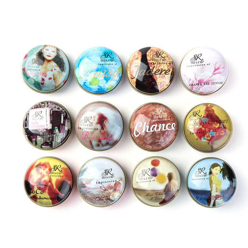 JEAN MISS 1pcs 15g Solid Perfume For Women And Men Floral Portable Round Box Solid Perfume Edt Ept Balm Body Fragrance Skin Care Essential Oil