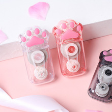 Kawaii Transparent Cat Paw 6M White Out Correction Tape Corrector Cute Office School Acccessories Supplies Stationery Gift