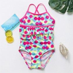 От 1 до 12 лет, детское Монокини, одежда для купания для девочек, новый брендовый летний купальник для девочек, Цельный купальник, детская пляж... 2