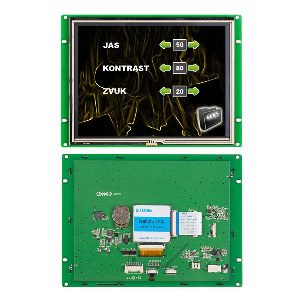 STONE 8.0 Inch HMI TFT LCD Display Panel With  RS232 /RS485/ Port +Touch Controller For Industrial Use