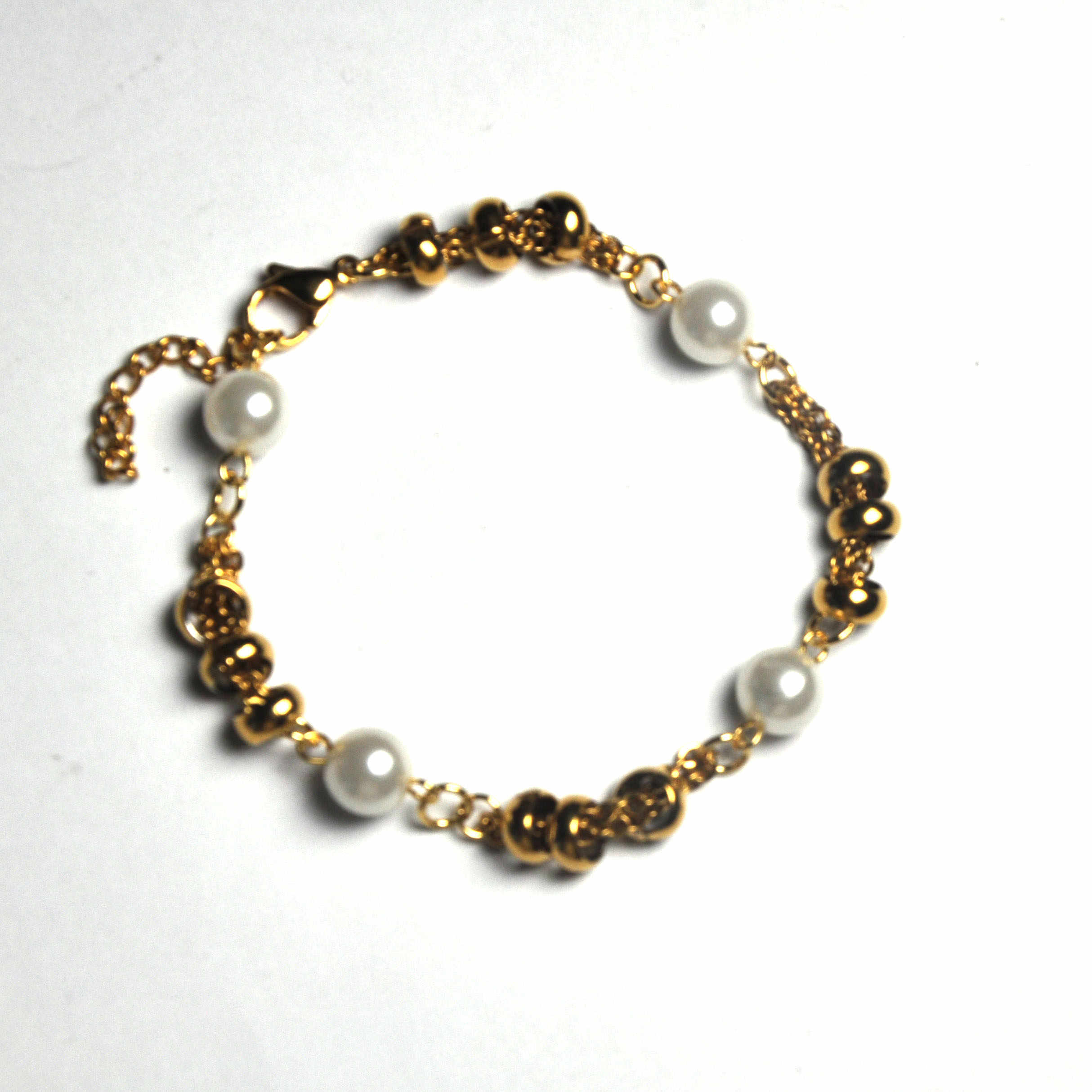 Stainless steel chain gold bracelet pop art lady  br08092