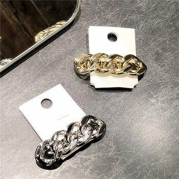 Horquillas de Metal con diamantes de imitación para niña y mujer, cadena...