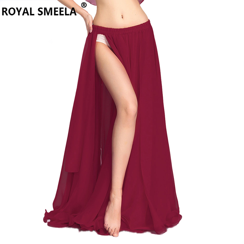 2019 Free Shipping High quality women bellydancing skirts belly dance skirt costume training dress or performance chiffon skirt