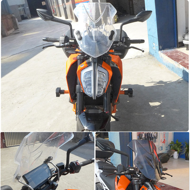 nawenson Motorrad Orange CNC Windschutzscheibe Windschutzscheibe oberen Scheinwerfer Top Mount Cover Panel Verkleidung Screen