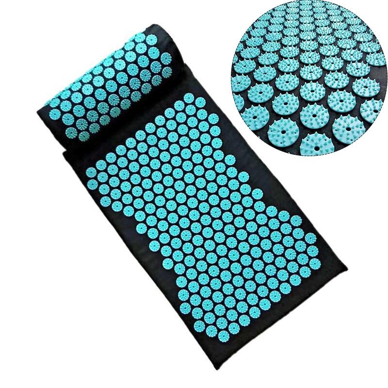 Massager Cushion Mat Yoga Mat Acupressure Relieve Back Relieve Body Pain Spike Mat Acupuncture Massage Mat With Pillow