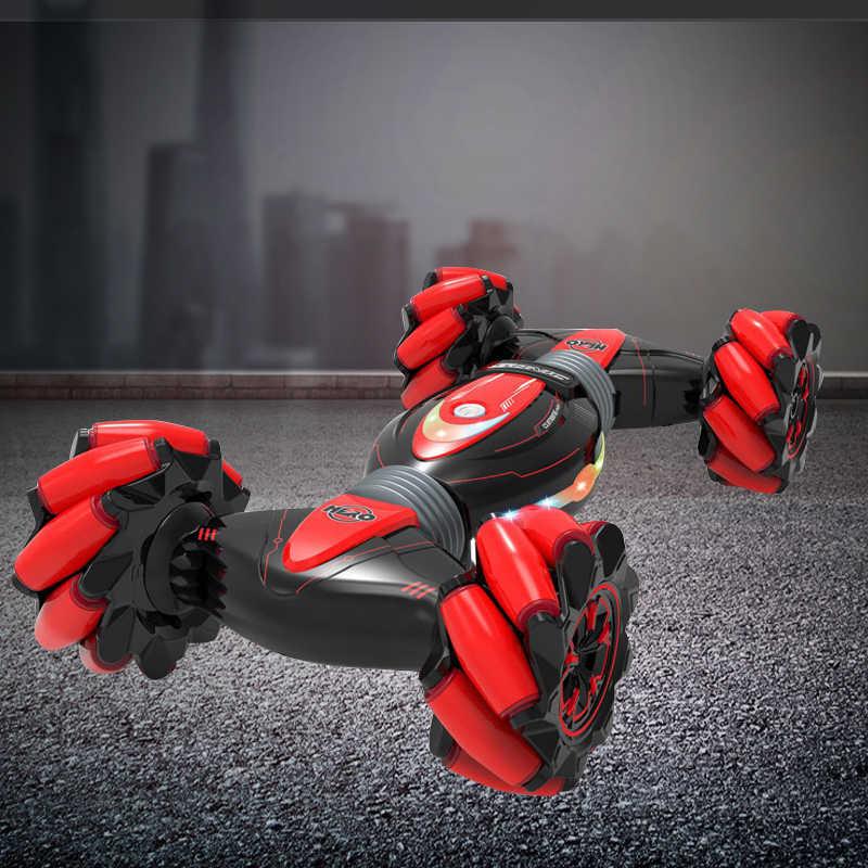 Remote Control Mobil Stunt Gerakan Induksi Memutar Kendaraan Off-Road Musik Ringan Drift Sensor Kendaraan Double Induksi Ganda