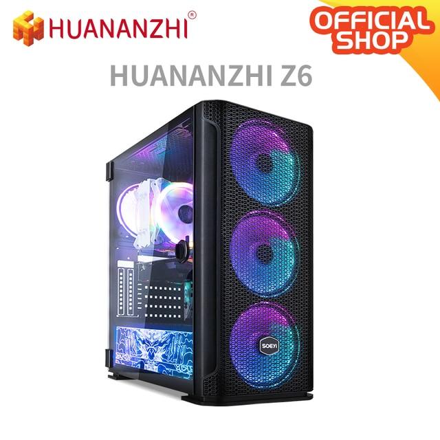 HUANANZHI X99 TF Z6 Gaming E5 Desktop Computer cpu E5 2678 V3 DDR4 4*8G Gaming Card GTX 1050TI 4G SSD 240G High cost performance 1
