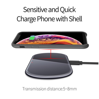 15W QI Wireless Fast Charger usb tpye c QC 3.0 Quick Charging For iphone samsung s9 Mobile phone airpods pro 2 SIKAI Dual 30W 1