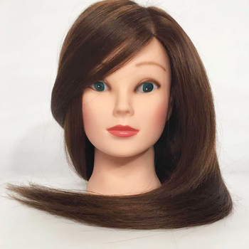 60cm Hair Hairdressing Training Mannequins Wig Head Professional Salon Practice Head Hairdresser Hair Styling  Bracket RU