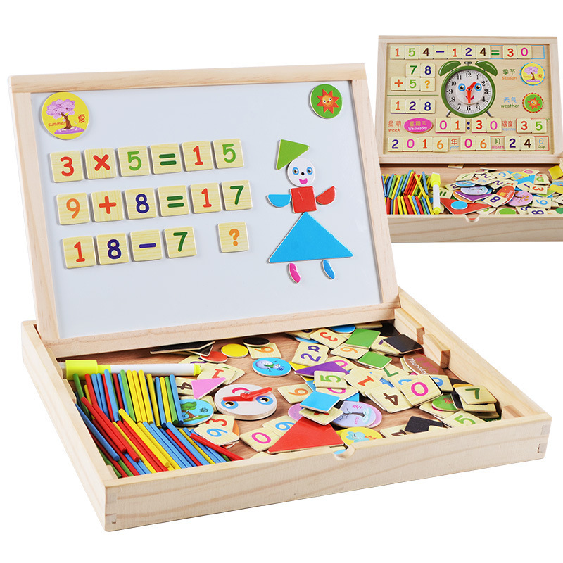 Child City Toy Children Wood System Jigsaw Puzzle Sided Magnetic Drawing Board Joypin Educational Toy Wholesale Direct Selling W