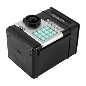 Image 5 - Electronic Piggy Bank for Paper Money ATM Password Money Box Cash Coins Saving Box Mini Safe Box Automatic Deposit Kids Moneybox
