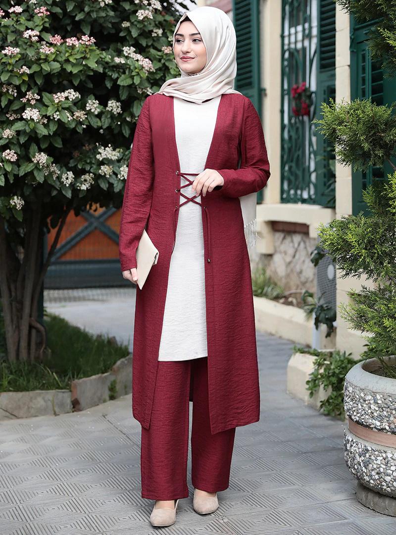 Elegant three pieces muslim sets Worship service robe suits top dress + pants + outer Robes Tunic Jubah dubai Ramadan robes sets