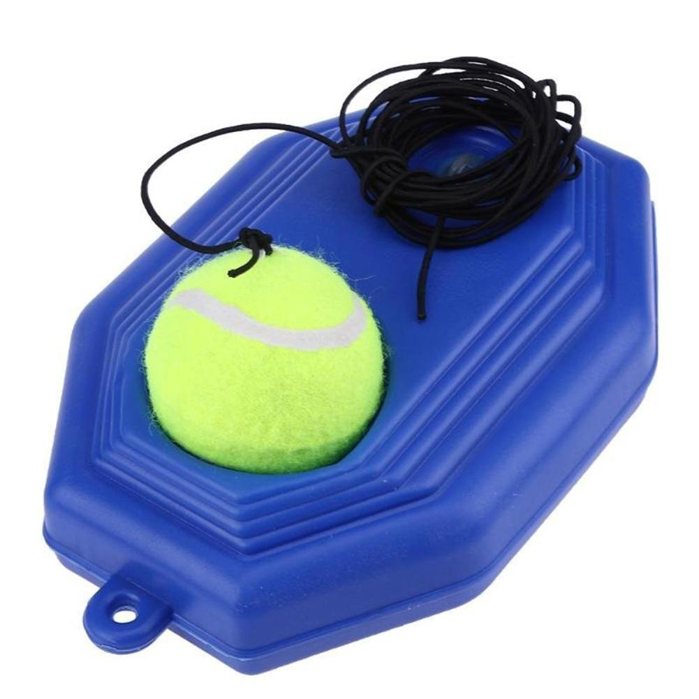 Portable Single Trainer Self-Study Tennis Training Tool Exercise Tennis Practice Trainer Baseboard Sparring Device Ball Holder