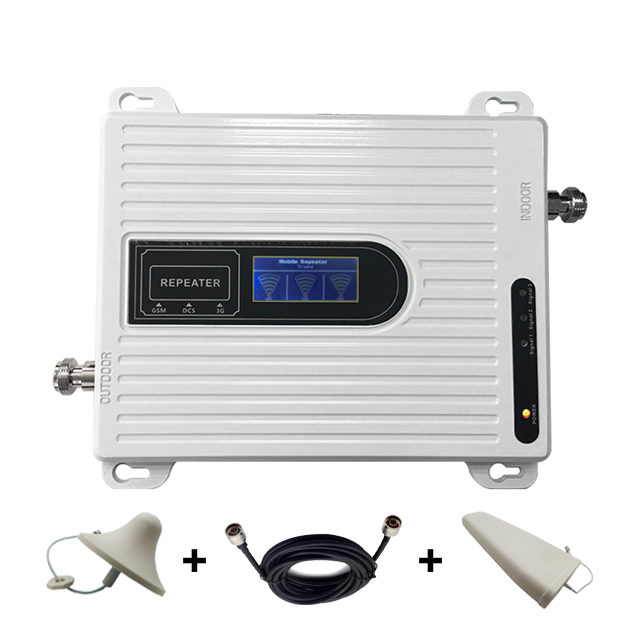 DCS GSM 3G 1800/900/2100Mhz Mobile Phone Signal Booster Amplifier