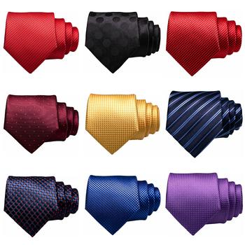 Ślubne krawaty męskie 48 stylów Handmade 7 5cm poliester moda Dot Tie czerwone zielone krawaty dla mężczyzn formalne biznesowe krawaty na imprezę tanie i dobre opinie KAMBERFT Dla dorosłych Szyi krawat Jeden rozmiar Mens tie Plaid Red Yellow Navy Blue Green Pink Brown 148cm*7 5cm*3 5cm