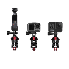 Mountain bike Bicycle clip bracket base mount for goPro 8 7 6 5 / Osmo Action / Osmo Pocket gimbal sport camera Accessories