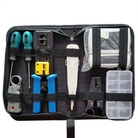 RJ45 Network Tester Tool Kit LAN Cable Wire Cutter Crimper Crimping Pliers Maintenance Tool Set Bag
