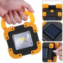 Яркий портативный Точечный светильник, рабочий светильник, USB Перезаряжаемый светильник-вспышка, светильник на солнечной энергии, встроенный аккумулятор 1200 мАч для охоты и кемпинга