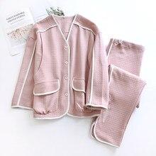 Maternidade/nursing wear quente senhora homewear macio amamentação conjunto de pijama outono/primavera/inverno gravidez camada de ar sleep wear