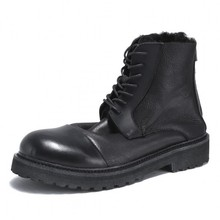 Men Winter Fur Warm Safety Boots Brand Casual 100% Real Leather Lace Up Boots 20