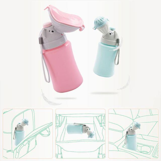 500ML Baby Portable Urinal Toilet Boy Girl Cars Travel Supplies Potty Training E65D 4