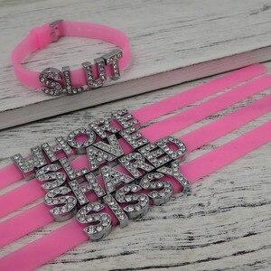 pink queen of spades bdsm charm bracelet fetish sexy lifestyle slut bbc(China)
