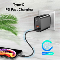 Baseus Dual USB Fast Charger 30W Support Quick Charge 4.0 3.0 Phone Charger Portable USB C PD Charger QC 4.0 3.0 ForXiaomi