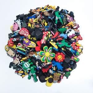 Shoe-Charms Bracelets Ornaments Holes-On-Shoes Fashion-Accessories Bands 50pcs of PVC