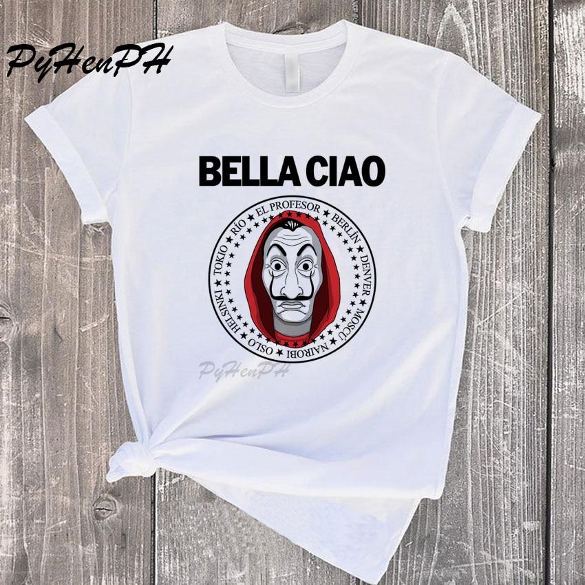 La Casa De Papel Tshirt Women Money Heist Tees TV Series T Shirt Women Short Sleeve House Of Paper Funny T-Shirt Tee Shirt Femme
