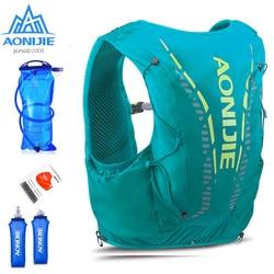 AONIJIE C962 12L зеленый гидратационный рюкзак, улучшенный пакет для кожи, жилет, мягкая фляга для мочевого пузыря, профессиональная сумка для бега