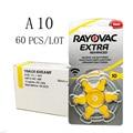60 шт. Rayovac Extra воздушно-цинковые батарейки для слуховых аппаратов A10 10A 10 PR70 слуховой аппарат Батарея A10 для слуховых аппаратов