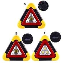 Multi Function Triangle Warning Sign Car LED Work light Road Safety Emergency X3UB