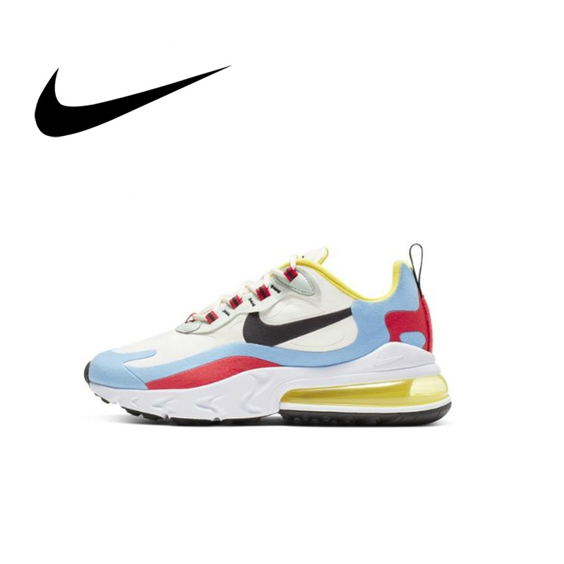 Original Authentic Nike Air Max 270 React Women's Running Shoes Breathable And Comfortable Sports Shoes New 2019 AT6174-100