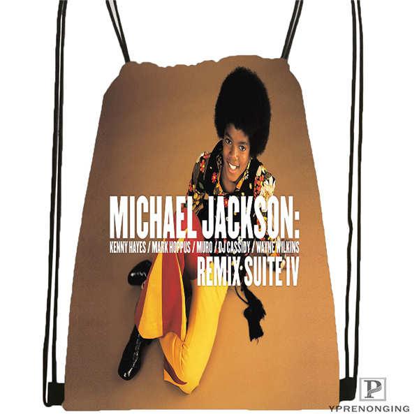 Custom Jimi-Hendrix@1 Drawstring Backpack Bag Cute Daypack Kids Satchel (Black Back) 31x40cm#2018612-01-21