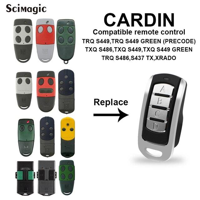 For CARDIN S435 S449 S486 S476TX2 TXQ Garage Door Remote Control Gate CARDIN 433.92 868 MHz Garage Opener CARDIN Clone