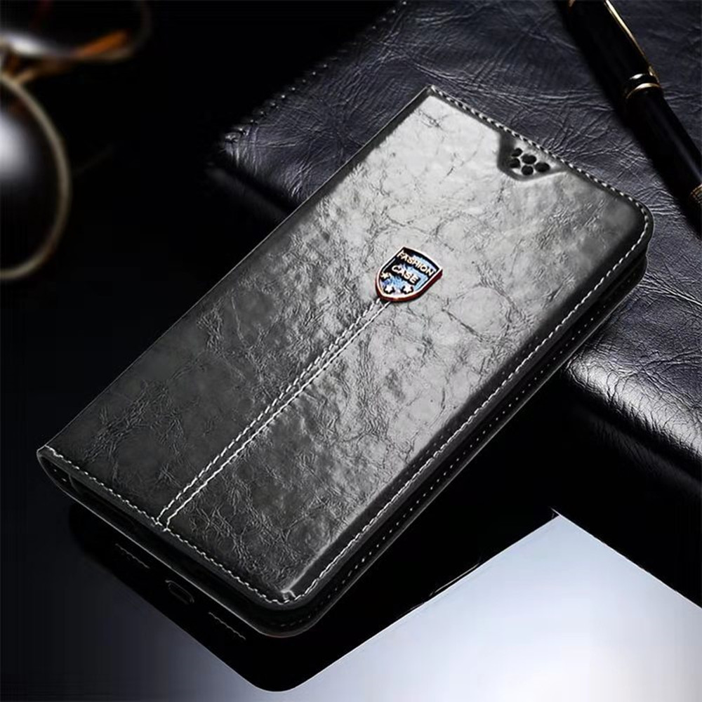 Leather Flip Wallet Case For Just5 Freedom X1 Blaster 2 Cosmo L707 L808 Freedom C105 M303 Phone Back Cover image