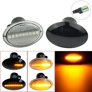 1Pair LED Dynamic Side Marker Turn Signal Light Sequential Lamp For Fiat 500 Ford KA Lancia Lybra Ypsilon Alfa 4C For Maserati