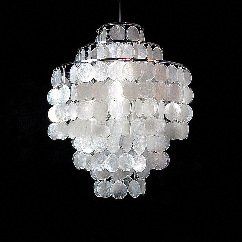 Modern Minimalist Shell Campanula Droplight Personality Stairs Bedroom Study Bar Dining Room Pendant Light Hanglamp
