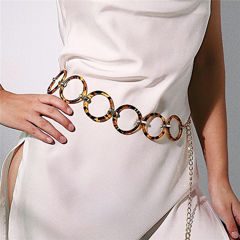 Женский леопардовый ремень с кисточками украшенный кругом новый