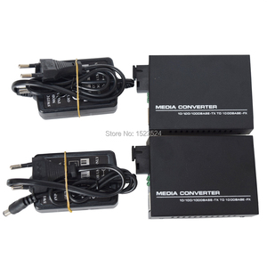 Image 5 - 1 Pair Gigabit Fiber Optical Media Converter 10/100/1000Mbps Single Mode Single Fiber
