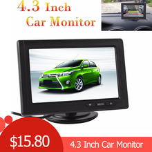 цена на New 4.3 Inch 480 x 272 Color TFT LCD Parking Car Rear View Monitor Parking Backup Monitor 2 Video Input for Reverse Camera DVD