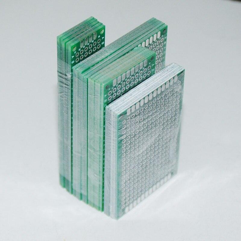 20 pièces PCB Prototype carte Circuit Protoboard universel Stripboard prototypage Veroboard 2X8 3X7 4X6 5X7 5 pièces chaque mixte Double