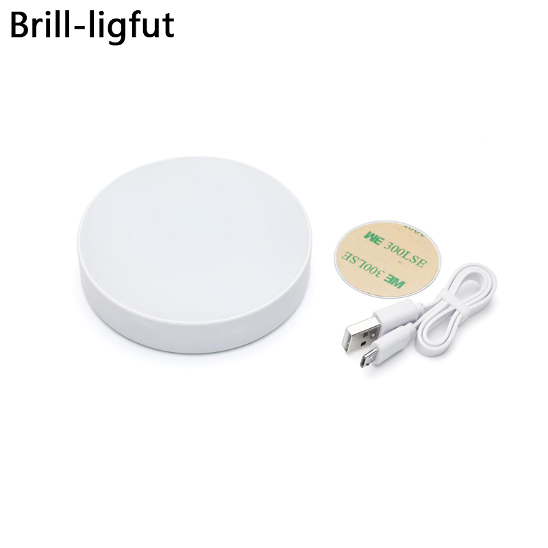 Dimmable Touch Light USB Rechargeable LED Puck Night Lights Magnet Stick On Closet Light For Cabinet,Wardrobe,Counter,Kitchen