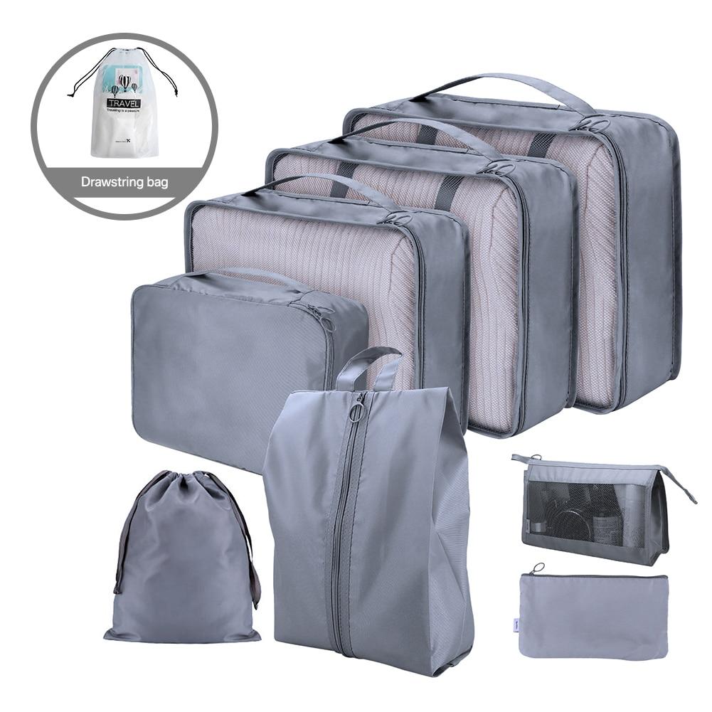 Ensemble de 6/7/8 voyage organisateur sacs de rangement valise emballage ensemble de rangement étuis Portable bagages organisateur vêtements chaussure rangé pochette