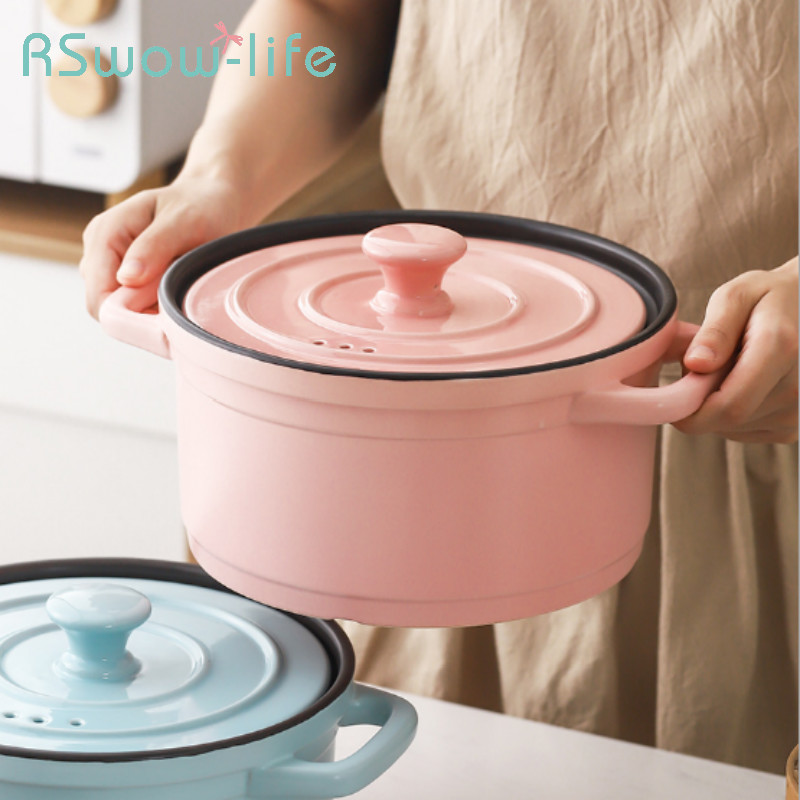 3L Casserole Soup Stew Pot Ceramic High-temperature Open Flame Household Soup Pot Ceramic Cooking Pot For Kitchen Supplies