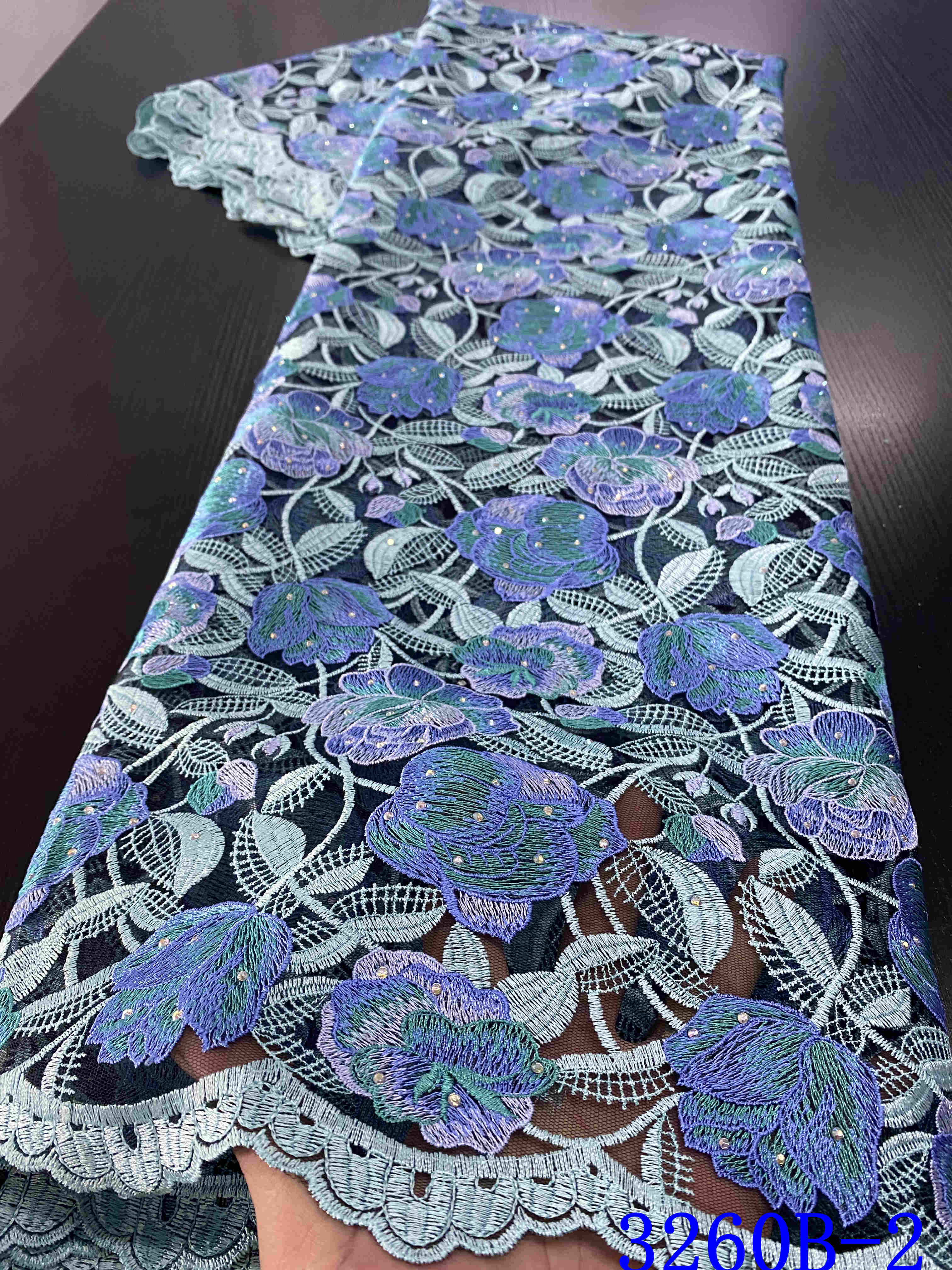 Latest Nigerian Lace Fabrics 2020 High Quality Lace African Tulle French Lace Embroidery Fabric For Bridal Dress YA3260B-2